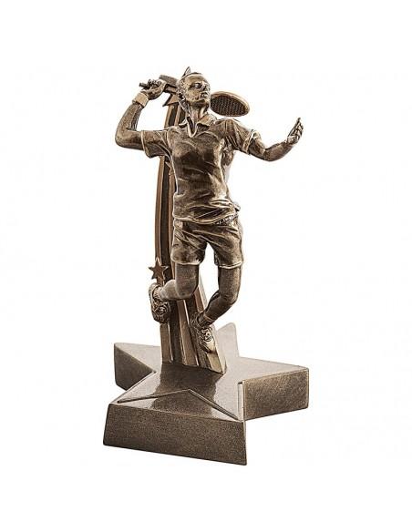 Trophée résine Joueur de Badminton hauteur 22 cm