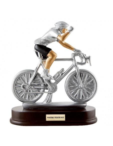 Trophée en résine Cyclisme Féminin hauteur 21x24cm