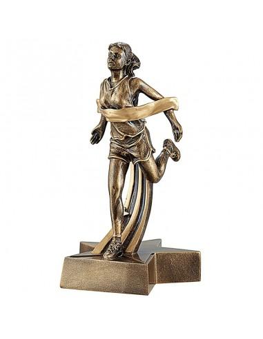 Trophée résine Course Femme hauteur 22 cm