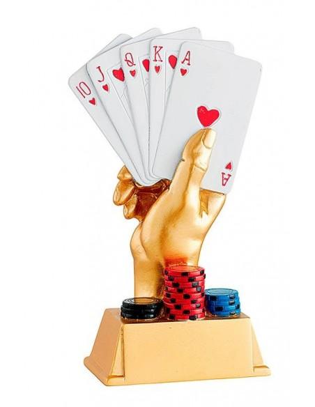 Trophée résine poker hauteur 20cm