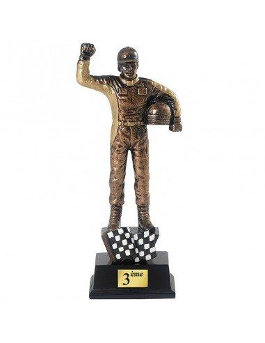 Trophée résine Pilote - 3 tailles disponibles  Bronze : hauteur 20 cm  Argent : hauteur 22 cm  Or : hauteur 25 cm