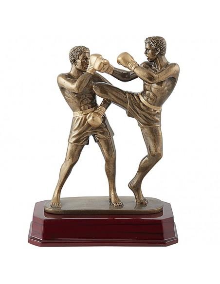 Trophée résine Kickboxing hauteur 24 cm