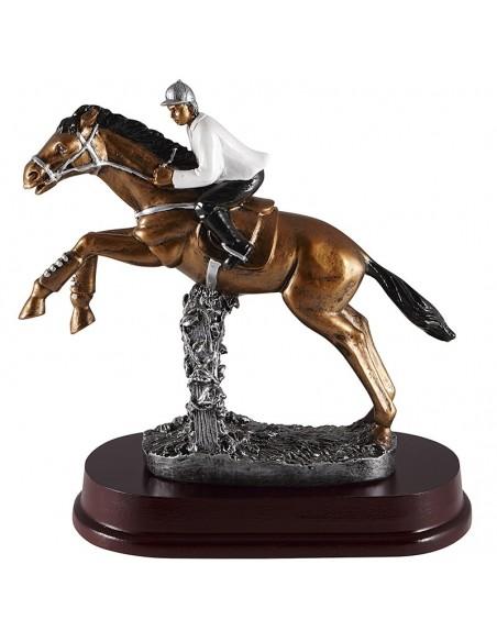 Trophée résine Equitation Homme hauteur 24 cm