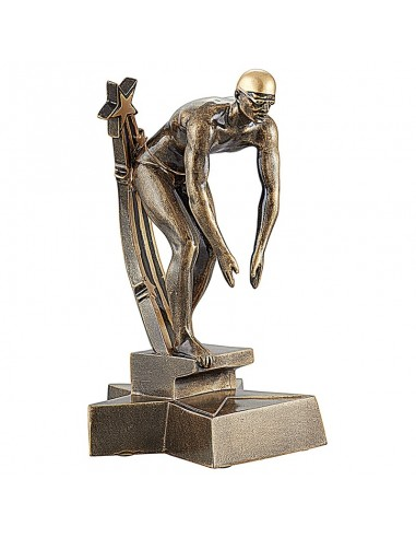 Trophée résine Natation Homme hauteur 20 cm
