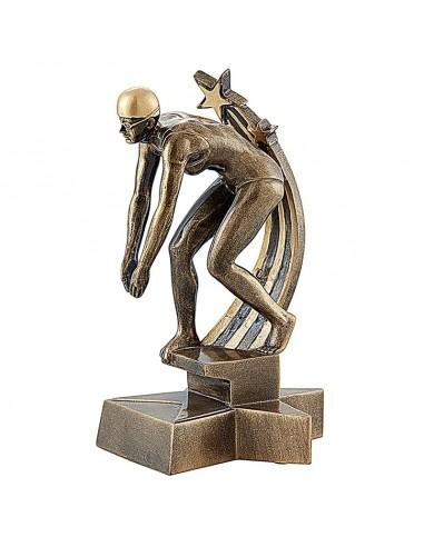 Trophée résine Natation Femme hauteur 20 cm