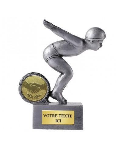 Trophée résine Natation Junior hauteur 12 cm