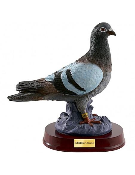 Trophée résine Pigeon hauteur 25 cm