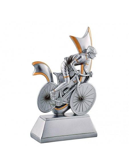 Trophée résine vélo hauteur 15 cm