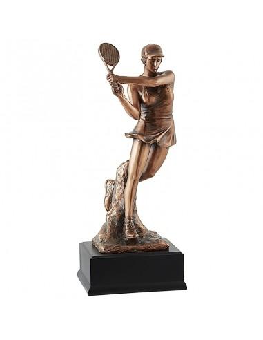 Trophée résine Luxe Tennis F. hauteur 43 cm