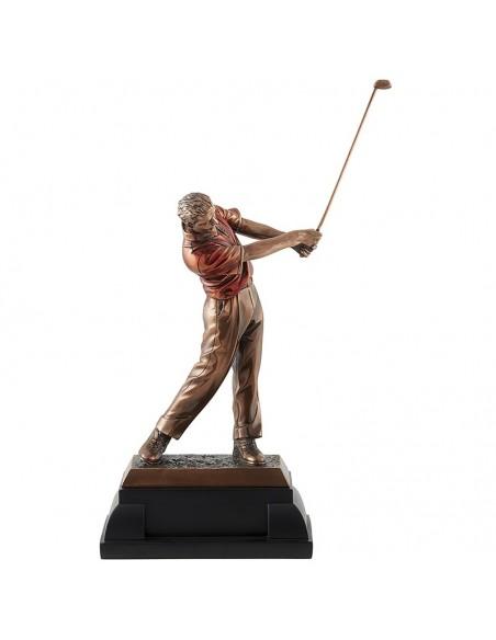 Trophée résine Luxe Golf hauteur 35 cm