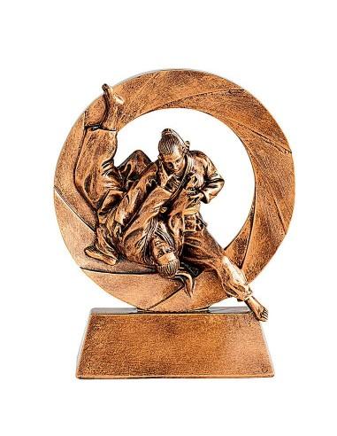 Trophée résine éco judo féminin hauteur 11cm