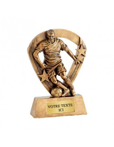 Trophée résine éco joueur foot hauteur 13cm