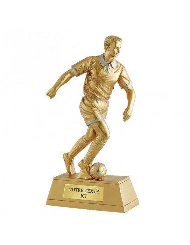Trophée résine joueur foot hauteur 36cm