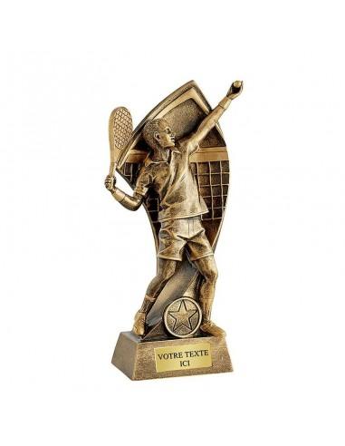 Trophée résine tennis masculin hauteur 22cm