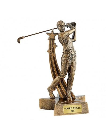 Trophée résine golf masculin hauteur 21cm