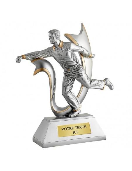 Trophée résine Joueur boule lyonnaise hauteur 32cm