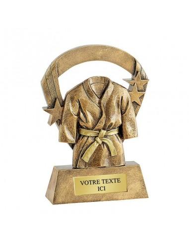 Trophée résine Kimono Or hauteur 16cm