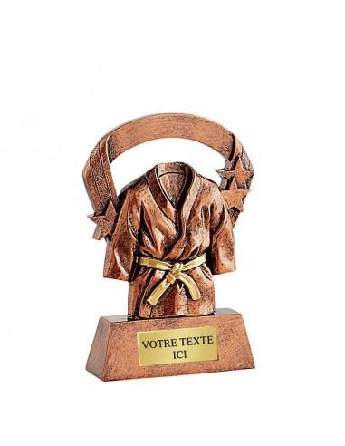 Trophée résine Kimono Bronze hauteur 16cm