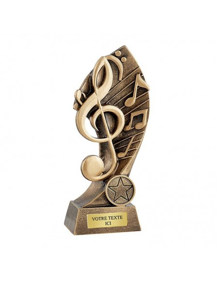 Trophée résine musique hauteur 17cm