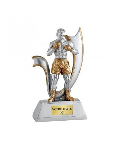 Trophée résine boxeur hauteur 20cm