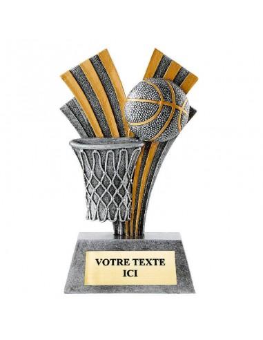 Trophée en résine basket hauteur 18 cm
