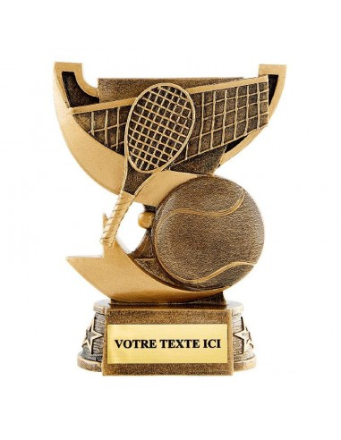 Trophée en résine Tennis hauteur 13 cm