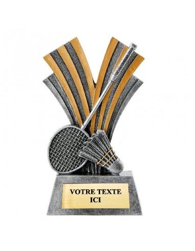 Trophée en résine Badminton hauteur 18 cm