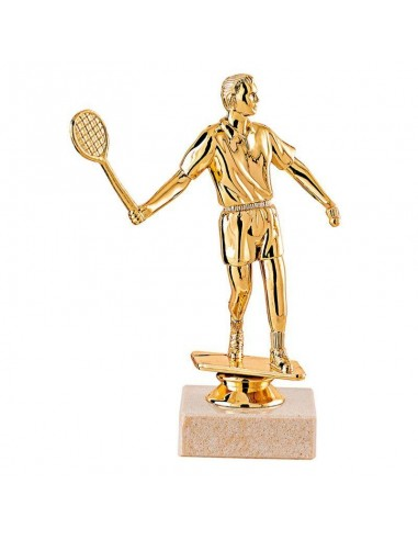 Trophée sujet plastique or badminton hauteur 17cm
