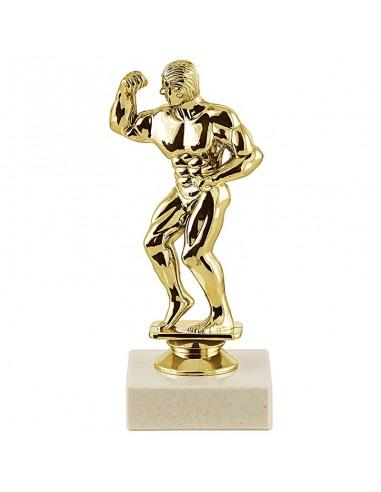 Trophée sujet plastique or body building homme hauteur 15cm