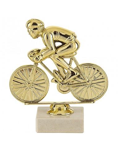 Trophée sujet plastique or cyclisme hauteur 13cm