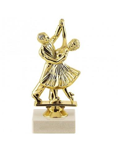 Trophée sujet plastique or danse hauteur 15cm