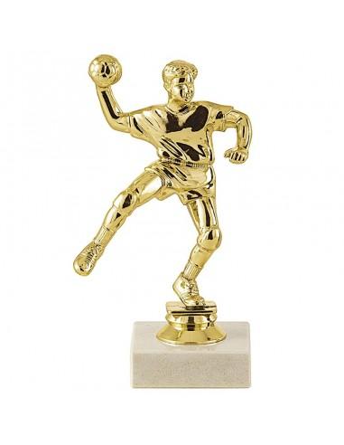 Trophée sujet plastique or handball hauteur 16cm