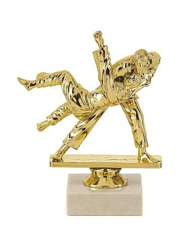 Trophée sujet plastique or judo hauteur 15cm