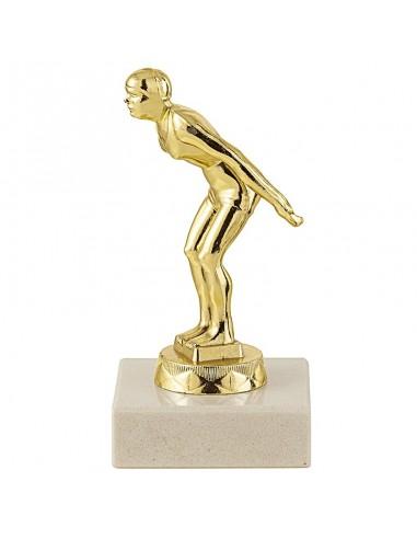 Trophée sujet métal or natation femme hauteur 12cm