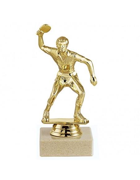 Trophée sujet métal or Tennis de Table homme hauteur 12cm