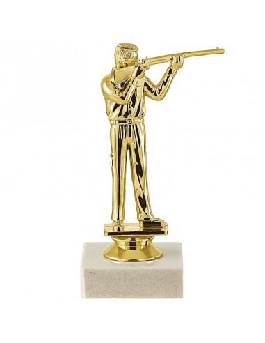 Trophée sujet plastique or tir fusil hauteur 15cm