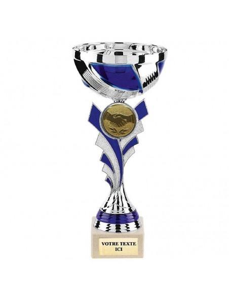 Coupe Argent/Bleu hauteur 24cm bol Ø100mm