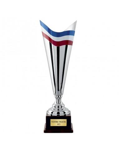 Coupe Argent Bleu / Blanc / Rouge hauteur 45cm