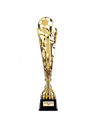 Trophée métal foot Or hauteur 37 cm