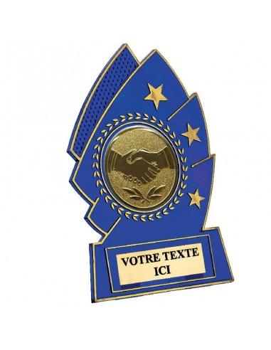 Trophée plastique bleu 15cm