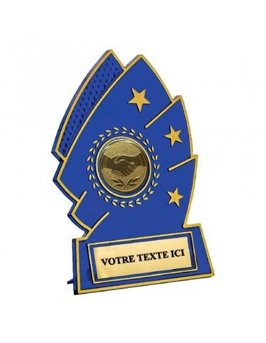 Trophée plastique bleu 11cm