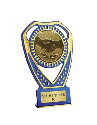 Trophée ABS Bleu 13cm