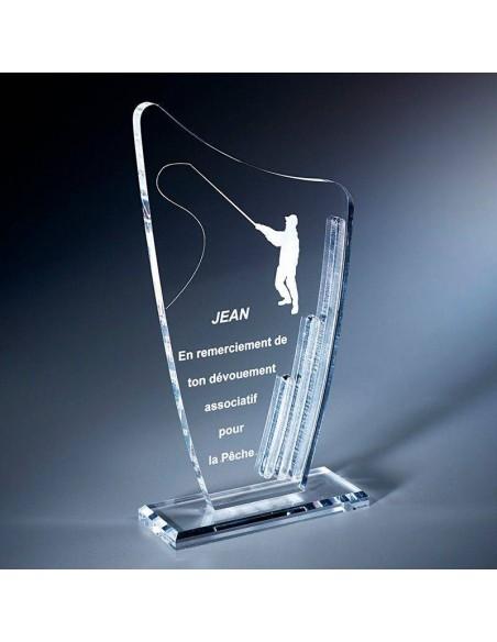 Trophée plexi épaisseur 10mm hauteur 19cm