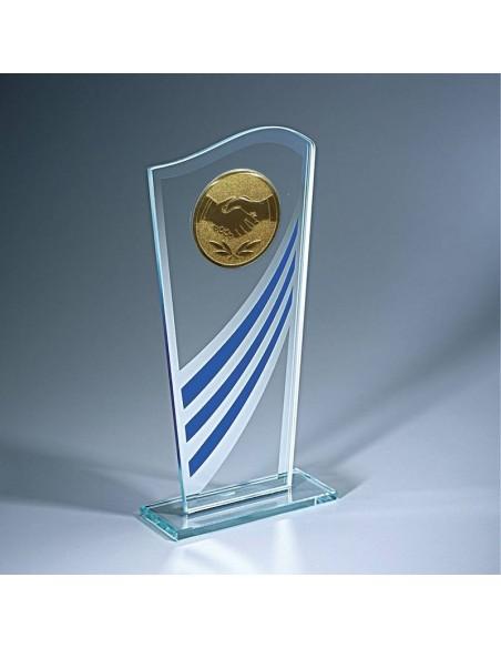Trophée verre hauteur 19cm