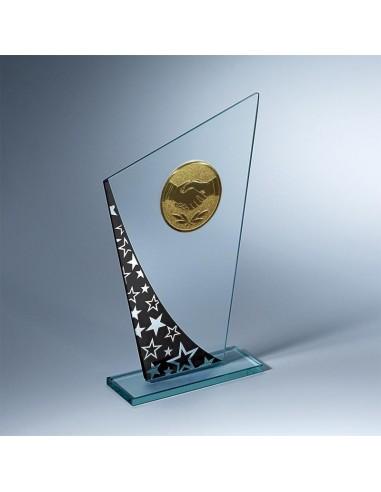 Trophée verre épaisseur 4mm hauteur 19cm
