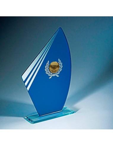 Trophée verre épaisseur 4mm hauteur 21cm