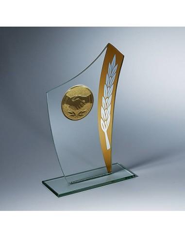 Trophée verre épaisseur 4mm hauteur 16cm