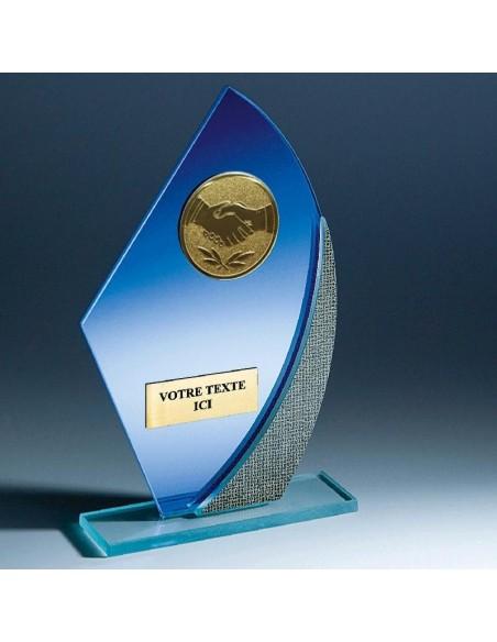 Trophée verre épaisseur 4mm hauteur 17cm