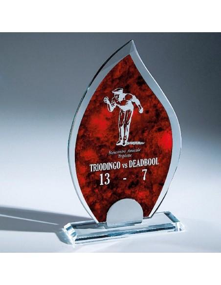 Trophée verre épaisseur 10mm hauteur 22cm