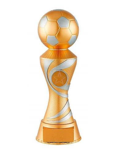 Trophée résine trophée ballon hauteur 23cm
